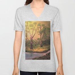 Sunny Forest Unisex V-Neck