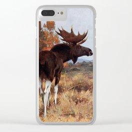 Kuhnert, Friedrich Wilhelm (1865-1926) - Wild Life of the World 1916 v.2 (Elk or Moose) Clear iPhone Case