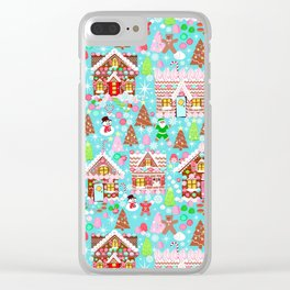 Gingerbread House Christmas Winter Candy, sweets.christmas gift, holiday gift for kids of all ages, Clear iPhone Case