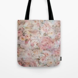 Vintage elegant blush pink collage floral typography Tote Bag