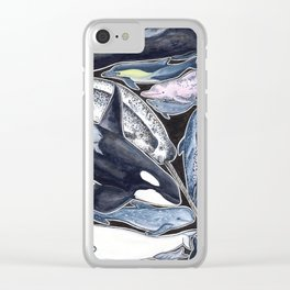 Dolphin, orca, beluga, narwhal & cie Clear iPhone Case