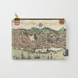 Lisbon map Carry-All Pouch
