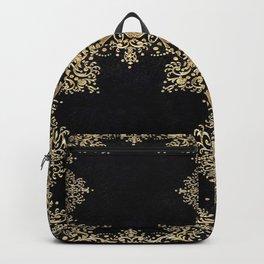Black and Gold Filigree Backpack
