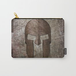 Molon Labe - Spartan Helmet on Riveted steel Carry-All Pouch