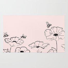 Poppies & Honeybees Rug