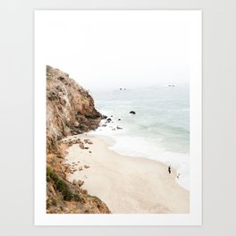 Malibu California Beach Art Print