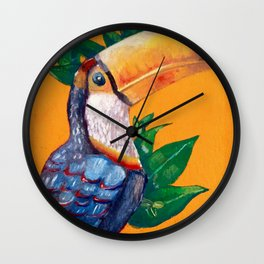 Beautiful Toucan Bird Painting Wall Clock