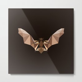 Brown PolyBat  Metal Print