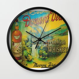 Old Whiskey Wall Clock