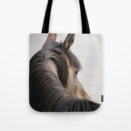 Horse Close Up Photograph, Western Horse Tote Bag