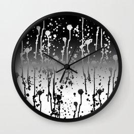salpicar, splash, splatter, sprinkle, spatter, dabble Wall Clock