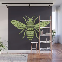 The Bee is not envious - Geometric insect design Wall Mural