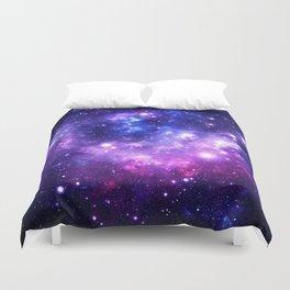 Purple Blue Galaxy Nebula Duvet Cover