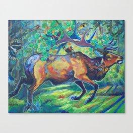 Forest Spirit on the run Canvas Print