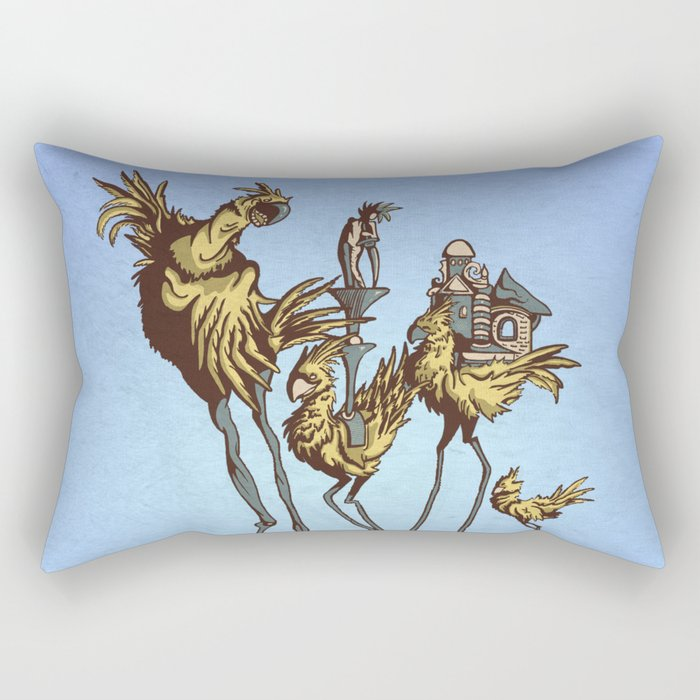 Dali Chocobos Rectangular Pillow