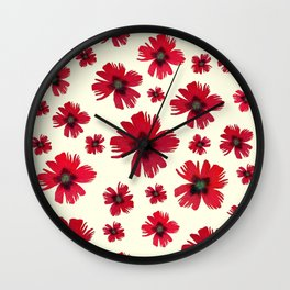 Italian Carnations Wall Clock
