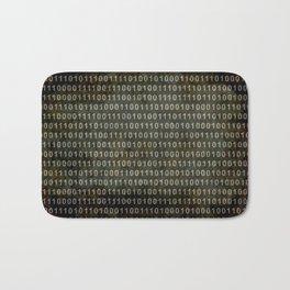 The Binary Code - Distressed textured version Bath Mat