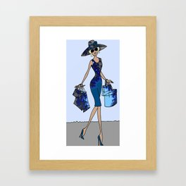 Shopping / designer shopping Framed Art Print