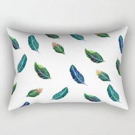 Watercolor Tribal Feathers Rectangular Pillow
