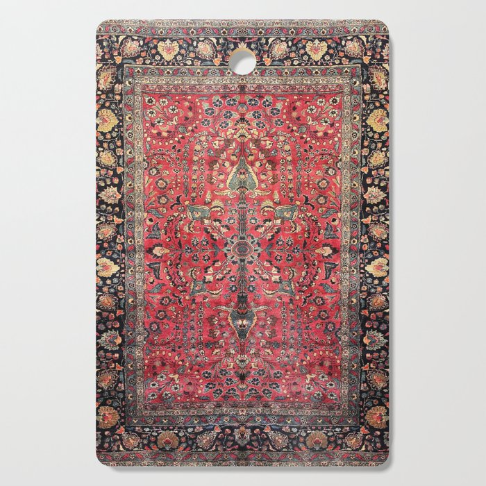 Antique Persian Red Rug Cutting Board