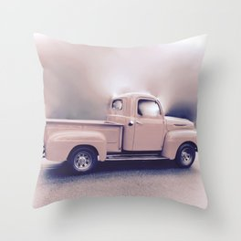 Classic Vintage Pickup Throw Pillow