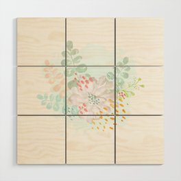 Paint splatter flower Wood Wall Art