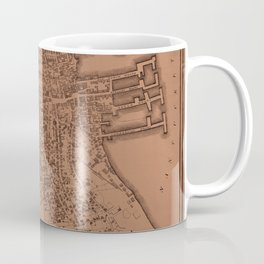 Map of Nantucket 1834 Coffee Mug