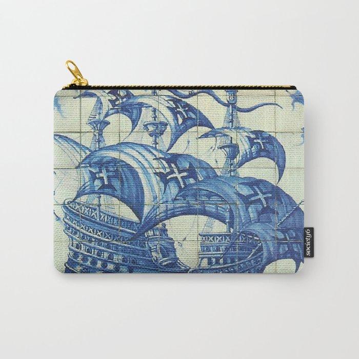 Caravela Portuguese tile Carry-All Pouch