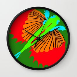 The Spectacular Flying Fish Wall Clock