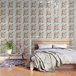 Loose Peonies & Poppies Floral Bouquet Wallpaper