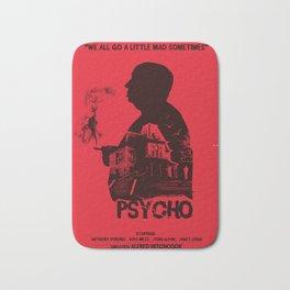 Psycho Hitchcock silhouette art Bath Mat