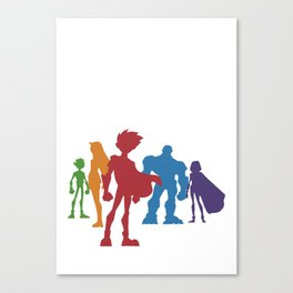 [ Teen Titans ] Robin, Starfire, Raven, Beast Boy and Cyborg Canvas Print