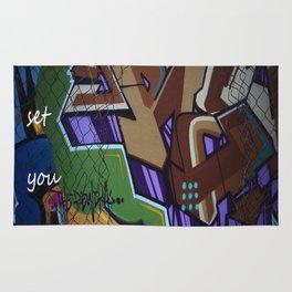 Art is set you free Rug
