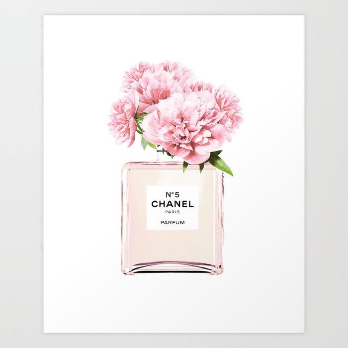 Flowers print fashion perfume scandinavian minimalist wall art art print