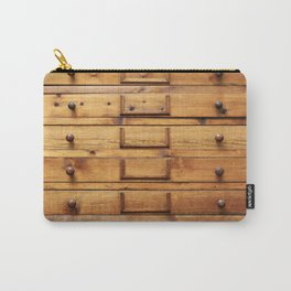 Wooden cabinet with drawers Carry-All Pouch