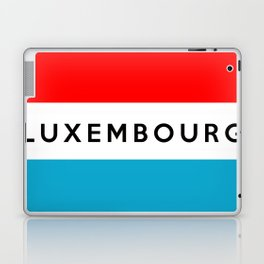 luxembourg country flag name text Laptop & iPad Skin