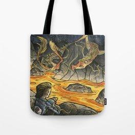 Alice & The Jabberwocky Tote Bag