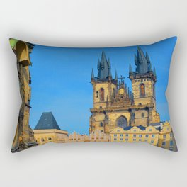 Prague Astronomical Clock Rectangular Pillow