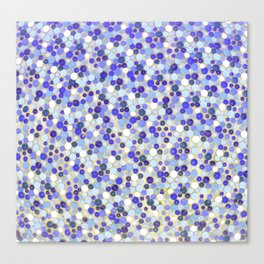 Blue disks Canvas Print