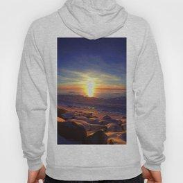 Alaska Sunset with blue skies.  Hoody