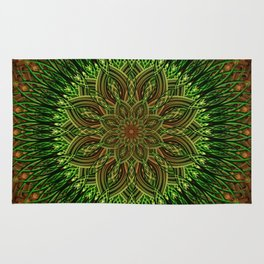 Earth Flower Mandala Rug