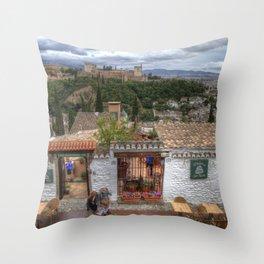 El Balcon de San Nicola Throw Pillow
