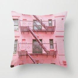 Pink Soho NYC Throw Pillow