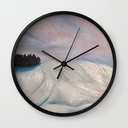 Salisbury Plain Snow Wall Clock