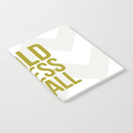 Gold Bless Us All Chevron Print Notebook