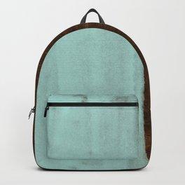Seafoam Blue Paint on Wood Backpack