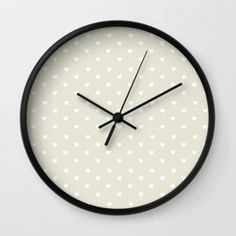 Pastel heart Wall Clock