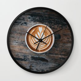 Coffee Latte Wall Clock
