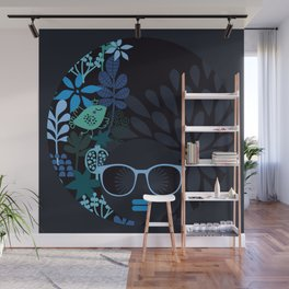 Afro Diva : Sophisticated Lady Teal Wall Mural