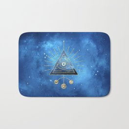 Magic Eye Blue Universe Bath Mat